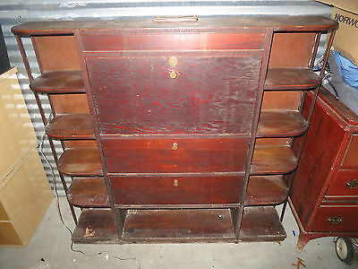 Vintage Drop Front Desk With side storage