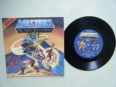 "MASTERS OF THE UNIVERSE read along book 2 stories  + 7"" record HE-MAN Skeletor"
