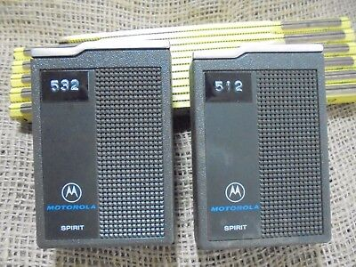 Vintage Lot of 2 Pagers Beepers MOTOROLA SPIRIT Untested Movie Prop Display