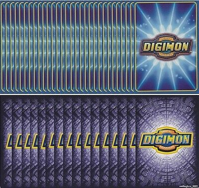 Digimon Digi-Battle Ccg - Random Booster Series 1-5 + Starter Deck 100 Card Lot
