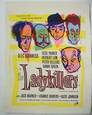 LadyKillers Movie Poster-Alec Guinness-British Double Crown-Linen Back-1955-LKXY