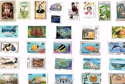A  Fresh New Mix Of Kiloware Stamps From Mauritius, Seychelles & Maldive Islands