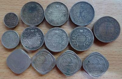 India (Pakistan x 1) 1862 – 1946 collection of 13 coins