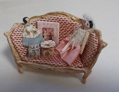 Dolls House Miniature Artisan Nursery Toy Sofa / Toys / Toy shop