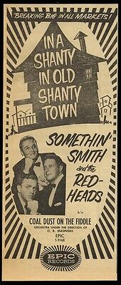 1956 Something Smith & The Redheads photo Epic Records trade print ad