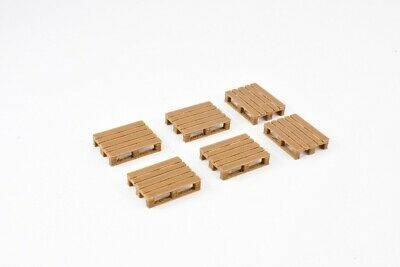 Pallets 1:50 Scale Accessory Pack Of 6 Made From Bamboo Wood / Plastic Composite