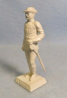 Marx white square base Col. Roosevelt- Rough Rider figure  from American Heroes