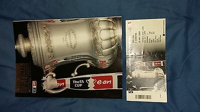 2009 F.A. Cup Final Programme & Ticket Chelsea v Everton