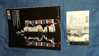 2008 F.A. Cup Final Programme & Ticket Cardiff v Portsmouth