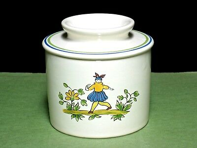 Longchamp France Moustiers Pattern Countertop Butter Bell French Art Pottery