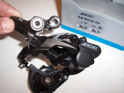 NEW - Shimano Zee 10-Speed Rear Derailleur, RD-M640-SS, Short Cage, DH