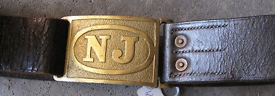 New Jersey M1872 Hagner Belt Plate and Waistbelt
