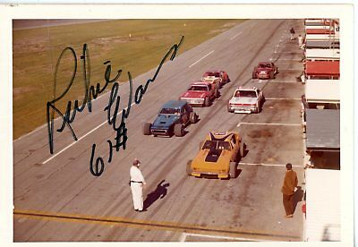 Richie Evans Autograph Orig 1970s 5x3.5 Photo NASCAR Modified 4559