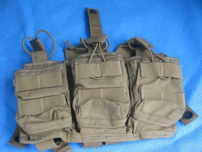 Ats Tactical Gear Coyote Triple Mag 6-Mag Pouch Excellent