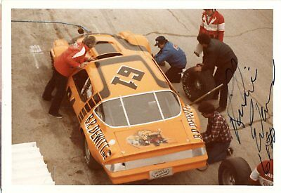 Richie Evans Autograph Orig 1970s 5x3.5 Photo NASCAR Modified 4567