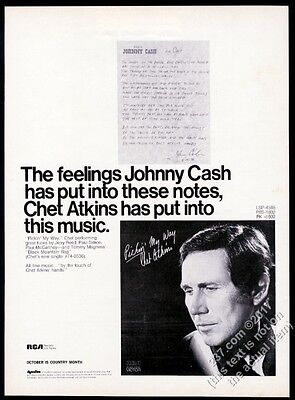 1971 Chet Atkins photo Pickin My Way record release vintage trade ad