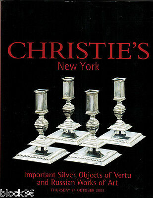 2002 CHRISTIE'S Important Silver, Objects of Vertu and Russian Works of Art