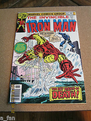 Invincible Iron Man # 87 June 1976 - The Blizzard!! Marvel Comics