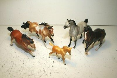Breyer Classic Size Lot With #185 Rex, Pinto, Paint, Dapple Gray, And Foal