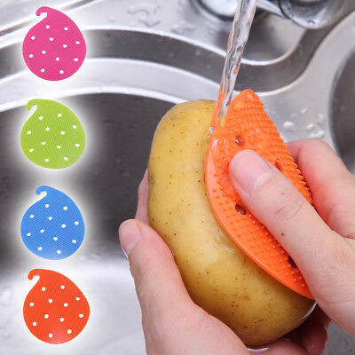 Multi-function Brush Gadgets Rubber Vegetable Fruit Kitchen Home Cleaning Tools