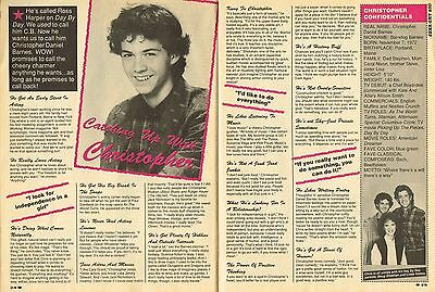 """Christopher Barnes - C B - Cb - Day By Day - 11"""" X 8"""" Magazine Clipping - 1989"""