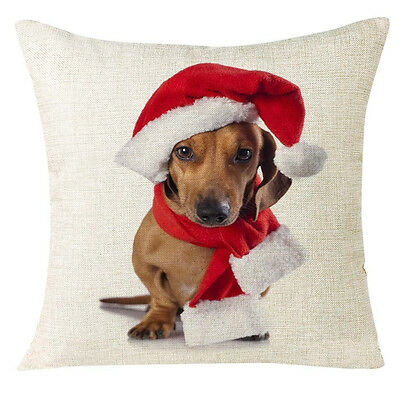Xmas Christmas Animal Sofa Home Decoration Festival Pillow Case Cushion Cover