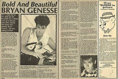 """Bryan Genesse - The Bold And The Beautiful - 11"""" X 8"""" Magazine Pinup Clipping"""