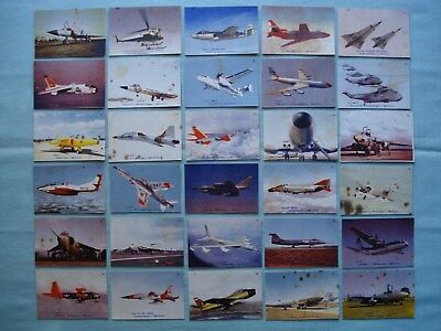 1964 Aeroplane Jelly *jets* Cut-Out Cards Complete Set 30/30