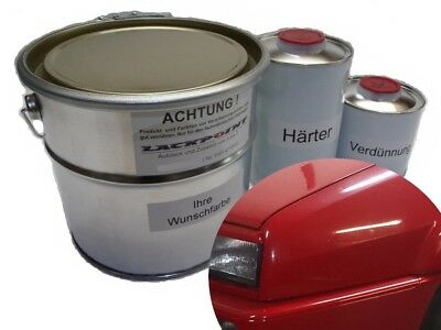 3,5 Liter Set 2K Car Paint VW LY3D Tornadorot Tuning Red Acrylic Lacque +