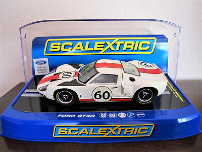 """Scalextric  Ford GT40  #60  """" Le Mans 1966 """"   Ref.  C3727"""