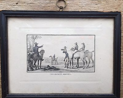 Jean-Louis Darcis Engraving, In The Style Of Charles Vernet, Les Jockeys Montes