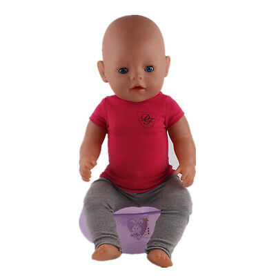 Cute 1set Doll Clothes Wearfor 43cm Baby Born zapf (only sell clothes ) n43