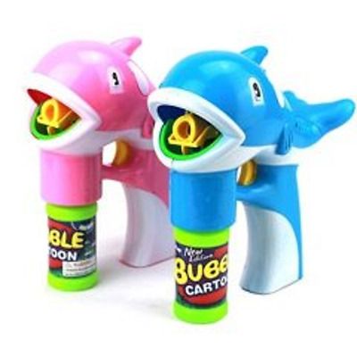 30X Battery Operated Flashing Dolphin Bubble Guns w/Sound Mixed