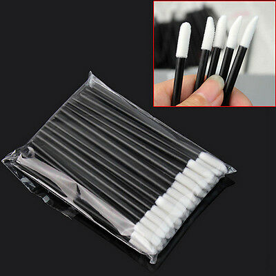 50/100pcs Disposable Lip Brush Gloss Wands Applicator Lipstick Makeup Tool