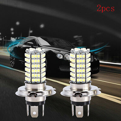 Pair H4 120SMD Car Light Bulb Hi/Low Beam LED Fog Headlight 9003 HB2 Lamp 6500K