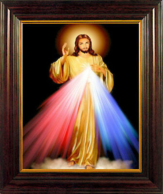 THE DIVINE MERCY OF JESUS FRAMED PICTURE STATUES CROSSES AND CANDLES LISTED M10