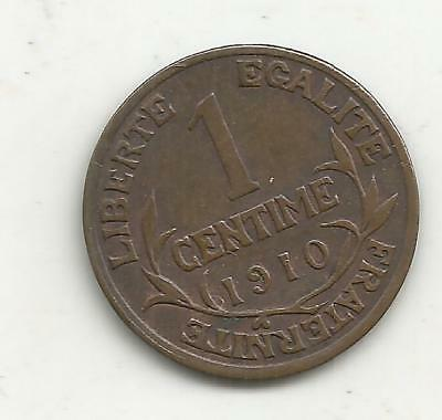 1 centime dupuis 1910 tres rare french coin