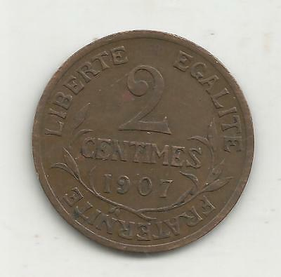 2 centimes dupuis 1907   rare 250000 exemplaires  french coin