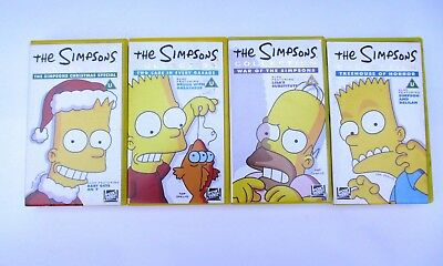 A Collection Of 4 Simpsons Vhs Videos Job Lot Inc Christmas Special