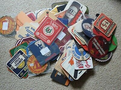 Box of over 240 Beermats. Mixed batch, old , new UK brewery non brewery, non UK
