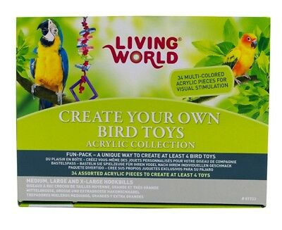 Hagen Living World Create Your Own Acrylic Parrot Toy