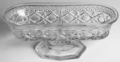 Imperial Glass Ohio CAPE COD CLEAR Divided Peanut & Mint Dish 1829663