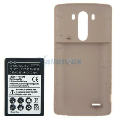 Replacement Extended Battery + Back Cover for LG BL-53YH/G3/D855/VS985 7200mAh