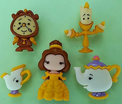 BELLE & FRIENDS  Beauty And The Beast Cogsworth Disney Dress It Up Craft Buttons