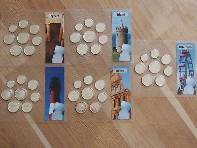 Euro KMS Europa Lot 5 KMS in Noppenfolie 5 x 1 Cent bis 2 Euro (1