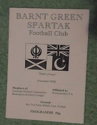 1998/99 Barnt Green Spartak v Archdale '73 Midland Combination Division 3