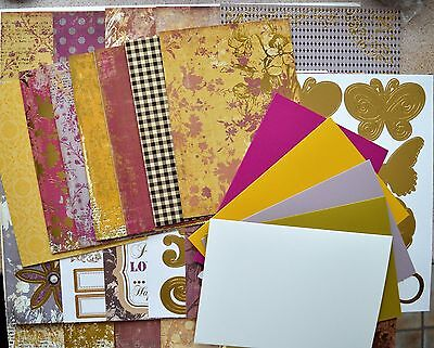 Beautiful Distressed Foiled A4 Backing Card/Foiled Toppers/Greeting Cards NEW