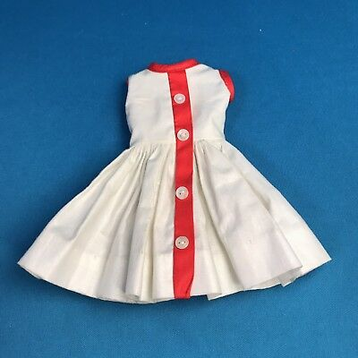 Vintage Madame Alexander Cissette ON RACK 808 White Sun Dress W Red Stripe