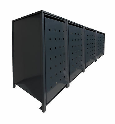 3er m lltonnenschrank metall m lltonnenbox m llbox metall grau neu 240l op eur 1 00 picclick de. Black Bedroom Furniture Sets. Home Design Ideas