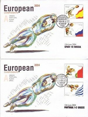 Portugal - European Football Championships (8no. PO FDC's) 2004